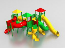 Plastic outdoor play equipment 3d model preview