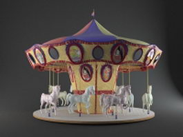 Toy carousel horses 3d preview