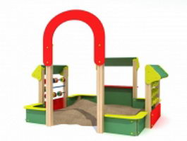 Kids outdoor sand pit 3d preview