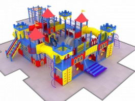 Outdoor castle playset 3d preview
