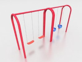 Playground swings 3d model preview