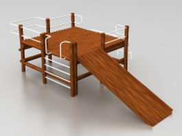 Climbing frame and slide 3d preview