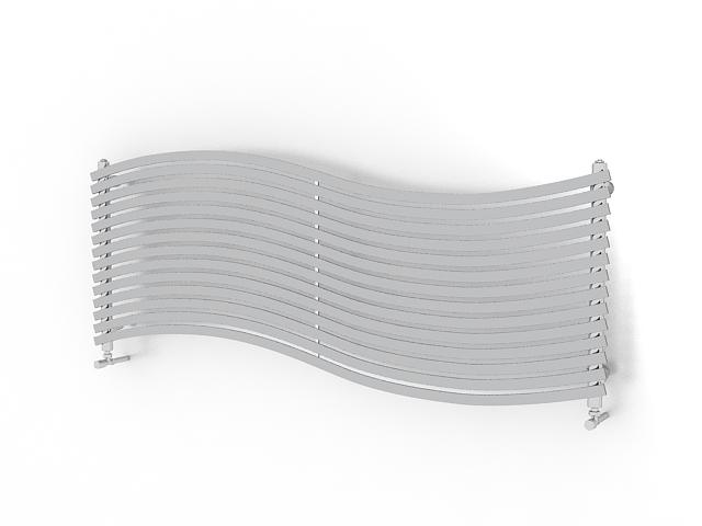 Designer radiator 3d rendering