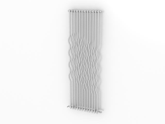 Vertical designer radiator 3d rendering