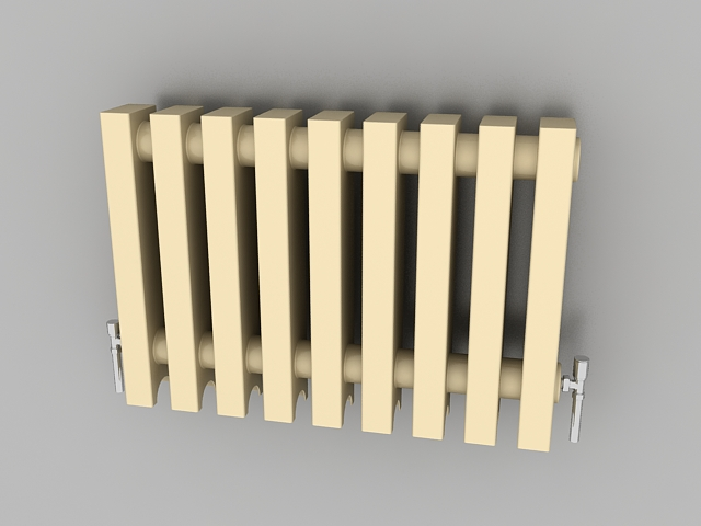 Old fashioned radiator 3d rendering