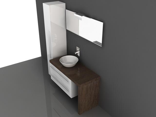 Bathroom vanity cabinets with tops 3d model 3D Studio,3ds ...
