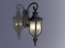Vintage outdoor wall lantern 3d preview