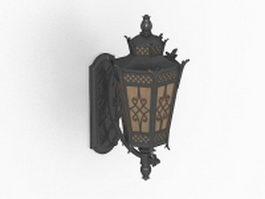 Wall mount lantern light fixture 3d preview