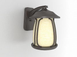 Outdoor wall lantern 3d preview