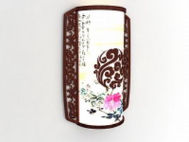 Chinese style wall sconce 3d preview
