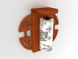 Vintage Chinese wall sconces 3d preview