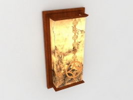 Chinese lantern wall sconce 3d model preview