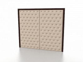 Fabric wall covering 3d model preview