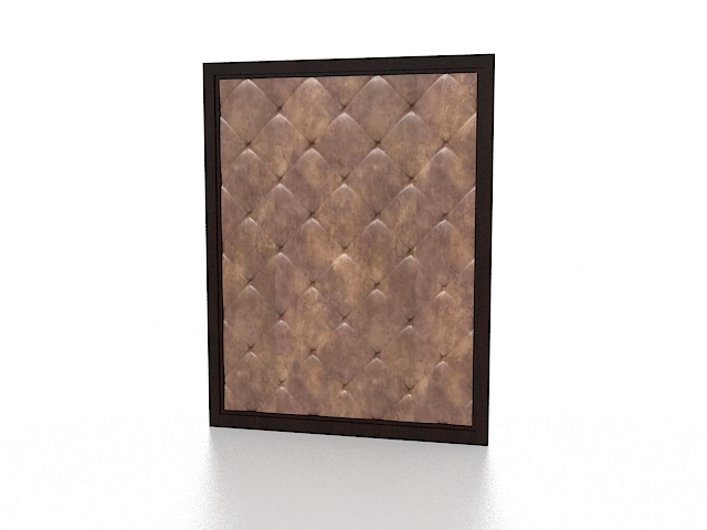 Upholstered wall covering 3d rendering