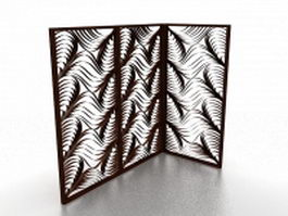 Room divider screens 3d preview