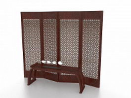 Oriental screens room divider 3d preview