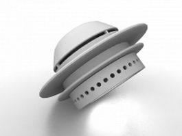 Embedded ceiling spotlight fixture 3d preview