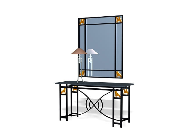 wall kitchen cabinets metal vanity table with mirror 3d model 3ds max files free 28064
