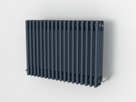 Dark blue radiator 3d model preview