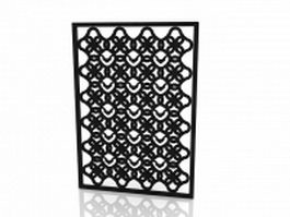Decorative wall panel screen 3d model preview