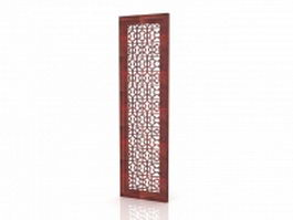 Carved wood panels wall art 3d model preview