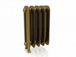 Gold radiator 3d model preview