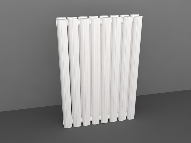 White heat radiator 3d rendering