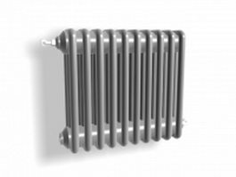 Old style radiator heater 3d model preview