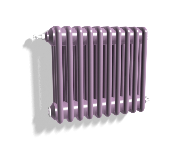 Purple water radiator heater 3d rendering