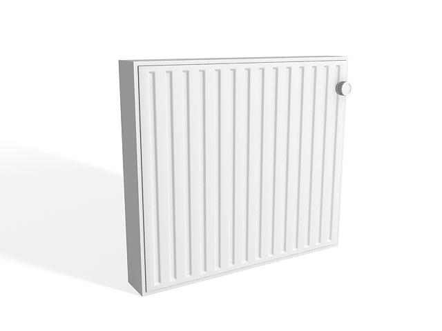 Electric baseboard radiator 3d rendering