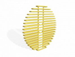Round radiator 3d model preview