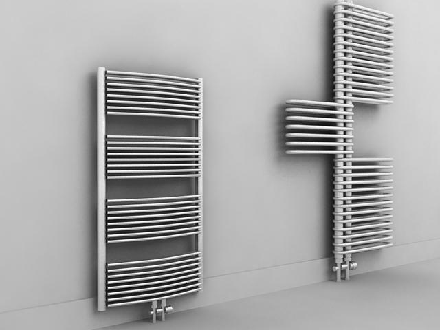 Designer radiators 3d rendering