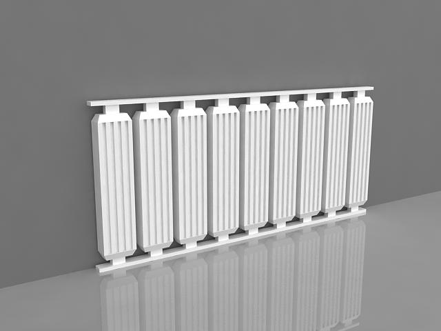Electric column radiator 3d rendering