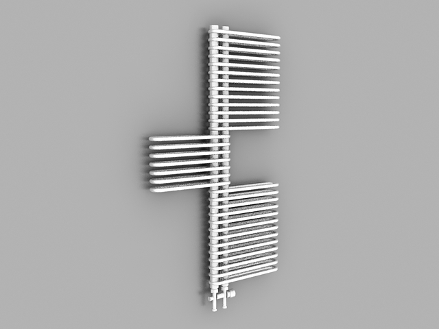 House radiators 3d rendering