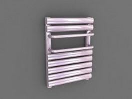Purple towel radiator 3d model preview