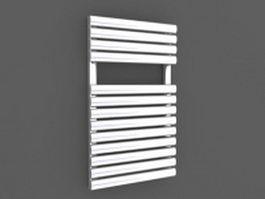 Straight ladder towel radiator 3d model preview