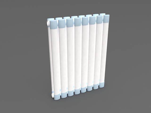 Vertical column radiator 3d rendering