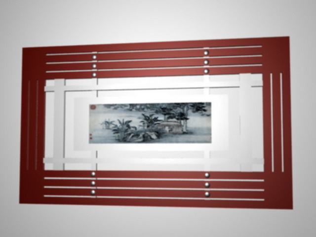 Decorative radiator cover for home 3d rendering