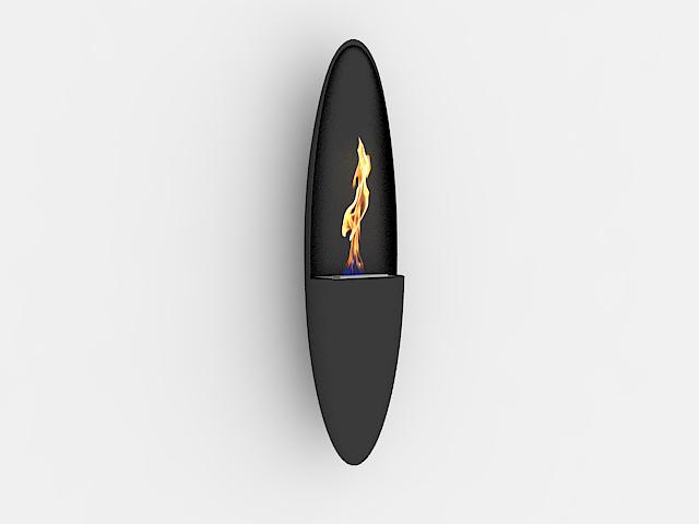 Modern ethanol fireplace 3d rendering