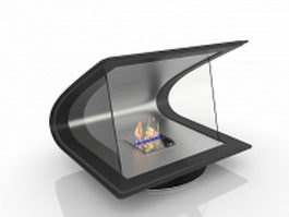 Bio Ethanol fireplace 3d preview