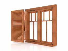 Window with shutters 3d preview