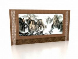 Decorative painting feature wall 3d preview
