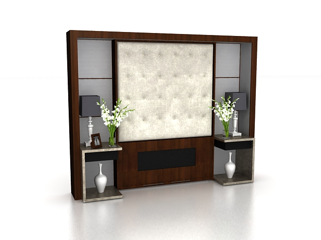 Accent wall design 3d rendering