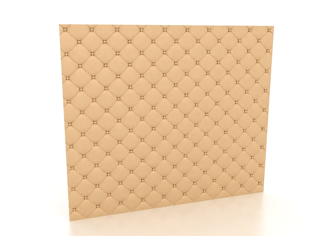 Padded wall covering 3d rendering
