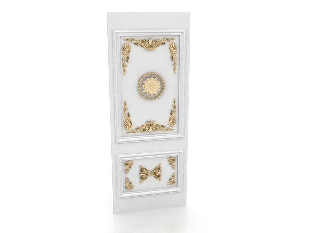 Decorative wall panel 3d rendering