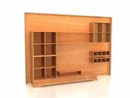 Storage wall unit 3d preview