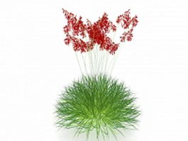 Grass with flowers 3d preview