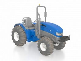 Blue tractor 3d model preview
