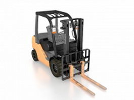 Toyota forklift 3d preview