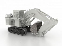 Track excavator 3d preview